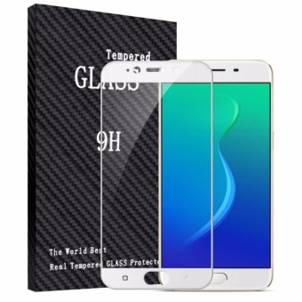 Tempered Glass Full Screen White For Oppo F3 Plus / F3+ 9H ScreenAnti Gores Kaca / Screen Guard / Screen Protection / Temper Glass /Pelindung Layar Kaca Oppo F3 Plus / F3+ / Depan Only - White /Putih