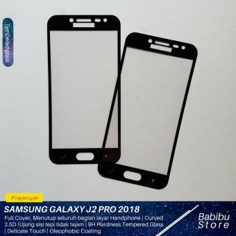 Tempered Glass Screen Protector / Anti Gores Kaca Samsung Galaxy J2 Pro 2018 - Hitam