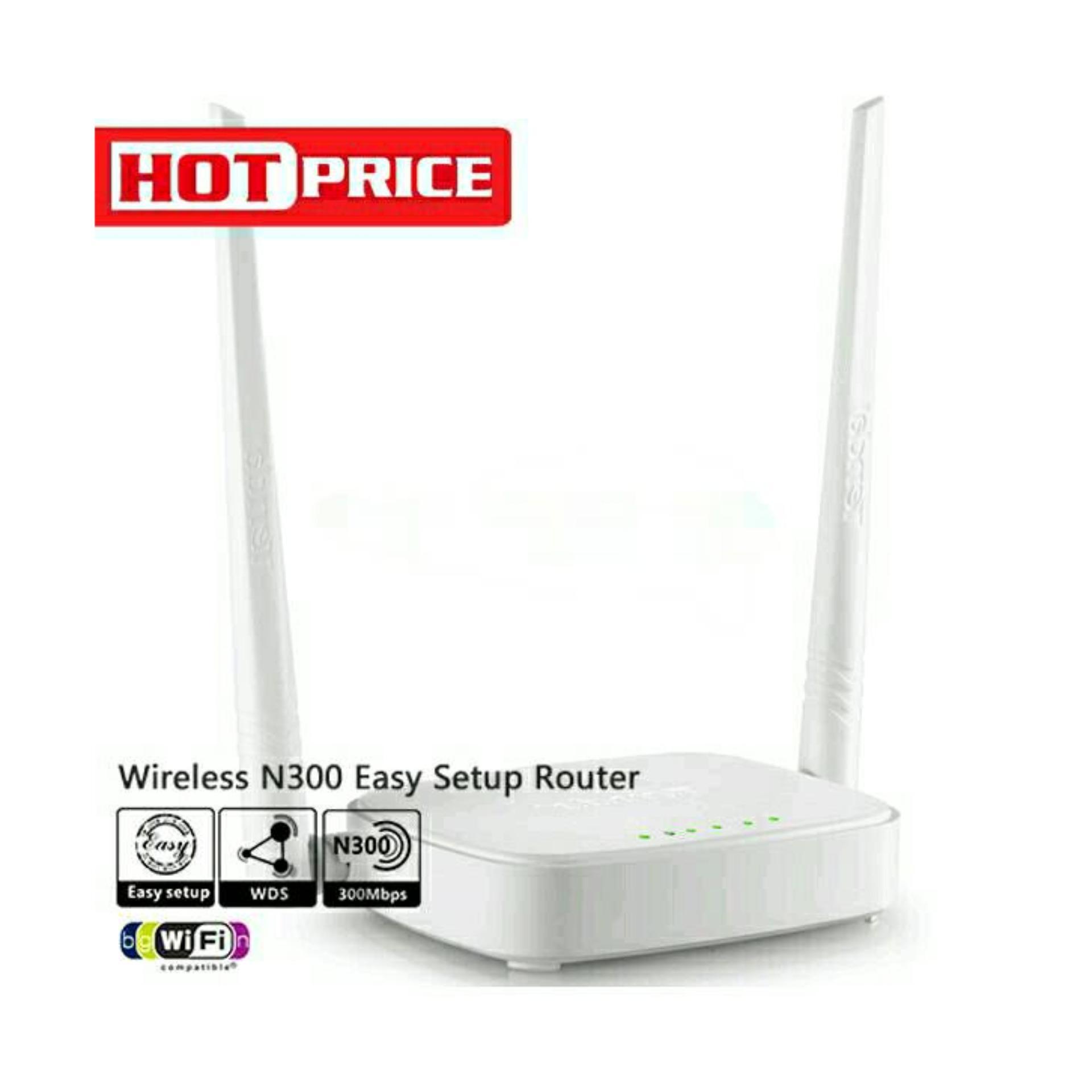 Harga Penawaran Tenda N301 Router 2antena Daftar Wireless 2 Antenna White N 301