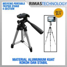 Weifeng Portable Tripod Stand 4-Section Aluminium Legs With Brace - Wt-3110a -