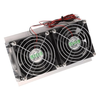 Pelacakan Harga Thermoelectric Peltier Refrigeration Cooling System Kit Semiconductor Cooler Large Radiator Cold Conduction Module Double Fans - intl ...