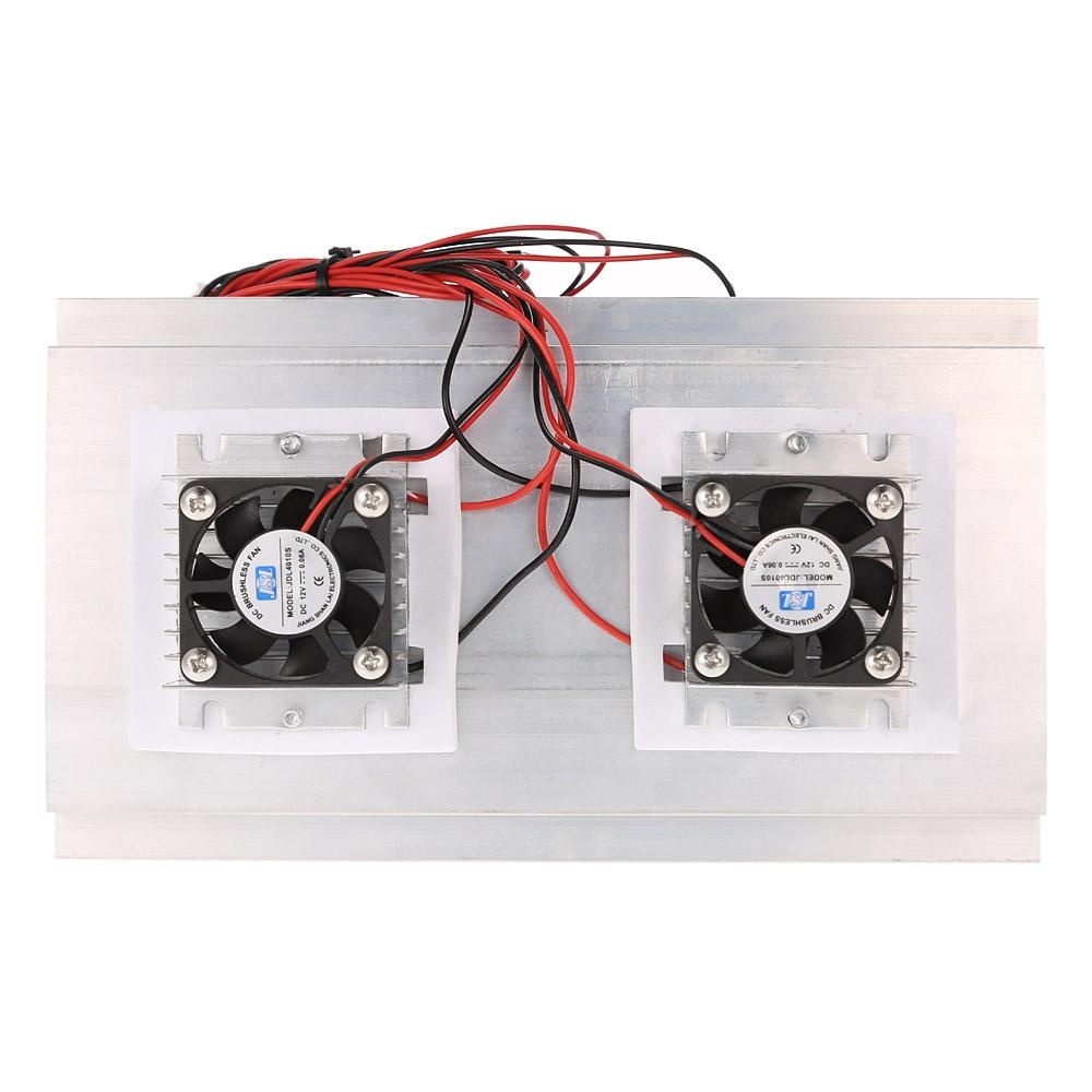 ... Thermoelectric Peltier Refrigeration Cooling System Kit Semiconductor Cooler Large Radiator Cold Conduction Module Double Fans ...