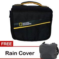 Third Party Tas Kamera National Geographic - Hitam + Gratis Rain Cover