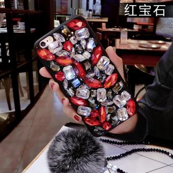 DISKON Tide merek iPhone7plus berlian mewah sabuk bola rambut handphone shell TERPOPULER