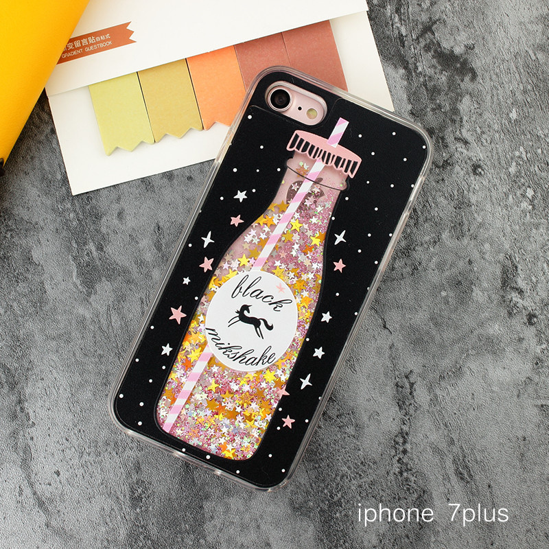 Tide merek iPhone7plus/I8 lucu silikon perempuan soft shell telepon