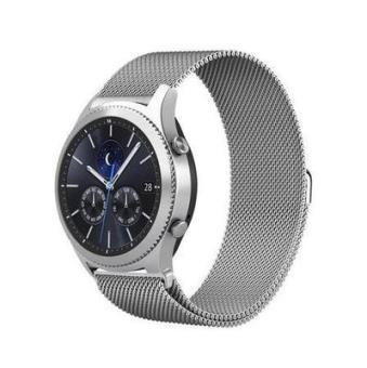 Tiga manik-manik logam tali stainless steel jam tangan pintar