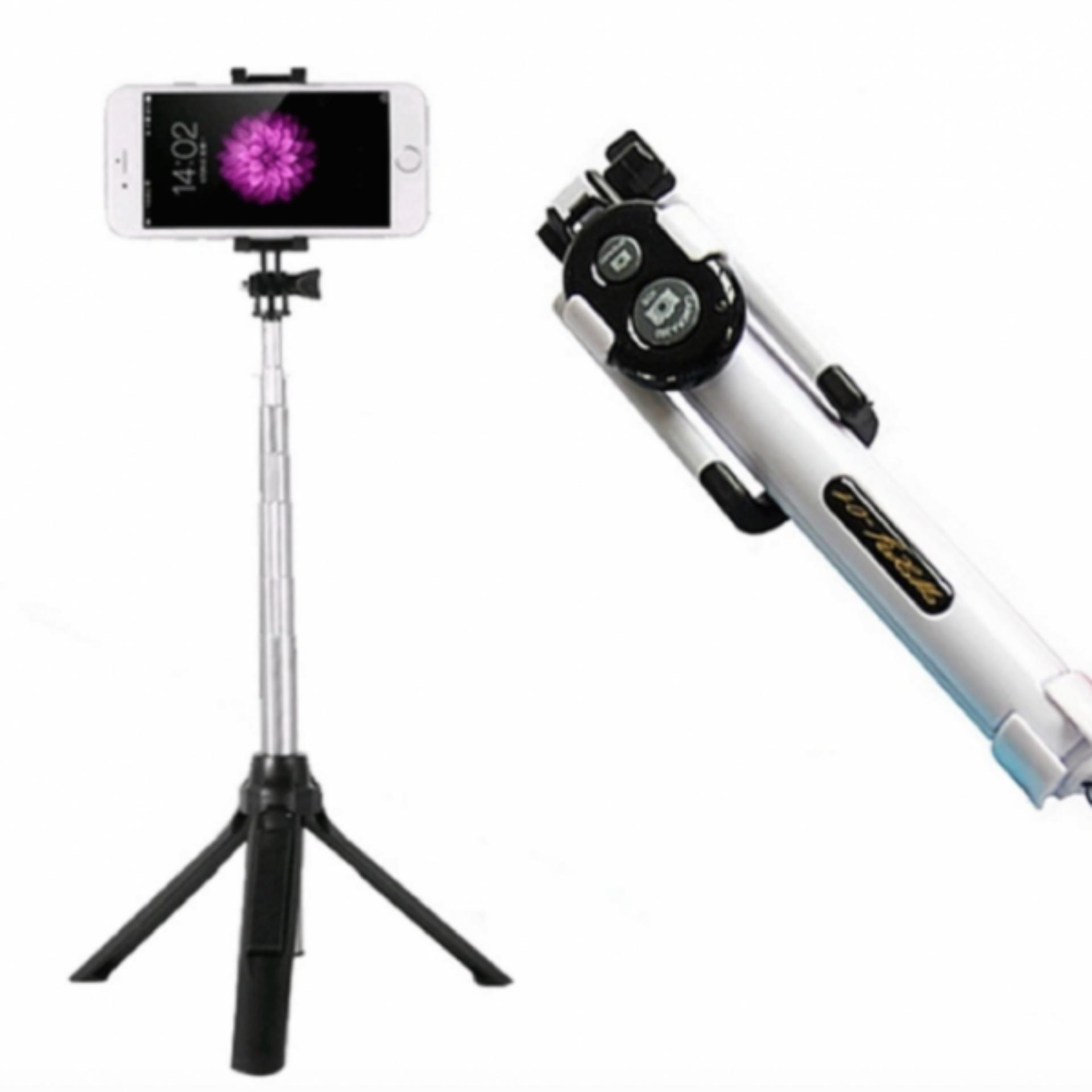 Tongsis 15cm 3 in 1 Built in Bluetooth Selfie Stick Monopod Tripod for Iphone Smartphone .
