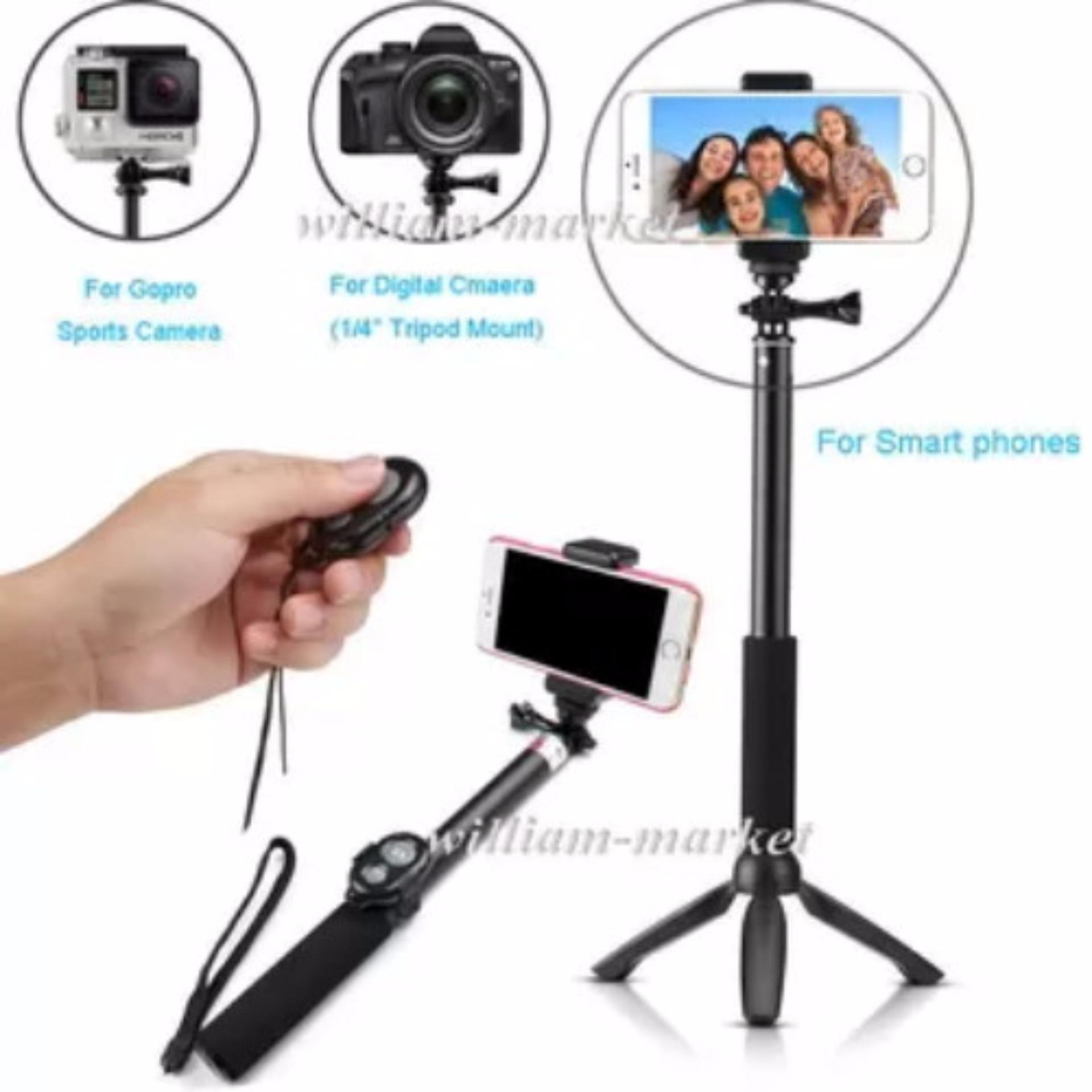 Tongsis 15cm 3 in 1 Built in Bluetooth Selfie Stick Monopod Tripodfor Iphone .