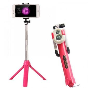 Tongsis 3 in 1 - Tongsis Tripod Bluetooth With Remote Acces Selfie Stick