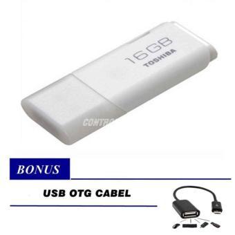 Toshiba Flashdisk Hayabusa 16GB - Putih + Gratis OTG USB Cable for Android