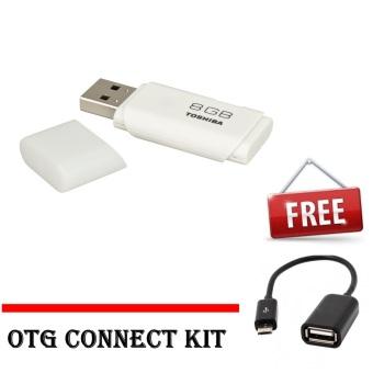 Toshiba USB Flash Memori 8GB + Gratis OTG Connect Kit