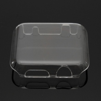 Transparent Clear Thin Hard Clip On Case Cover Screen Protector For Apple Watch transparent 42mm - intl