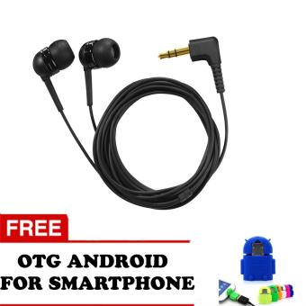Trend's Earphone Angel High Quality - Hitam + Gratis Otg Android For Smartphone