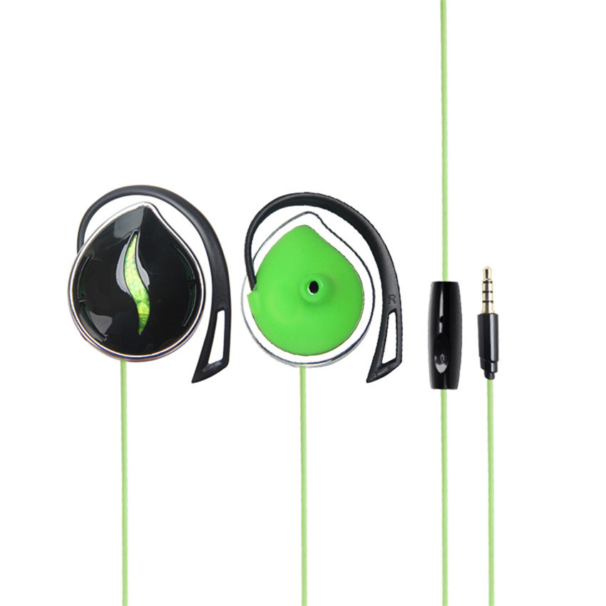 ... TTLIFE Fashion baru gaya 3,5 mm Stereo earphone sangkutan telingaolahraga telepon kepala headset Bass ...