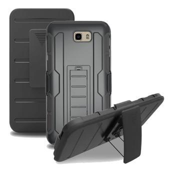 Tubuh penuh tahan guncangan tugas kasar case dengan sabuk pengunci klip putar dan standarnya untuk Samsung