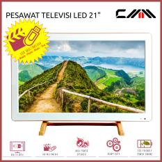 TV MONITOR LED 21 Inch Wide - CMM - Slim - USB Movie - HDMI - VGA - AV - Putih