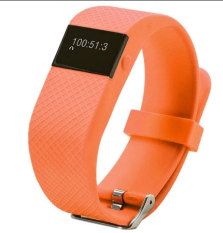 TW64S Fitness Heart Rate Smart band Smart Bracelet Wristband Tracker Bluetooth 4.0 Watch for IOS Andriod Phone (Orange)