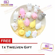 Twelven 3 Pcs Silicone Squishy Toy Fidget Hand Rising Animal Squeeze + Free Twelven Gift