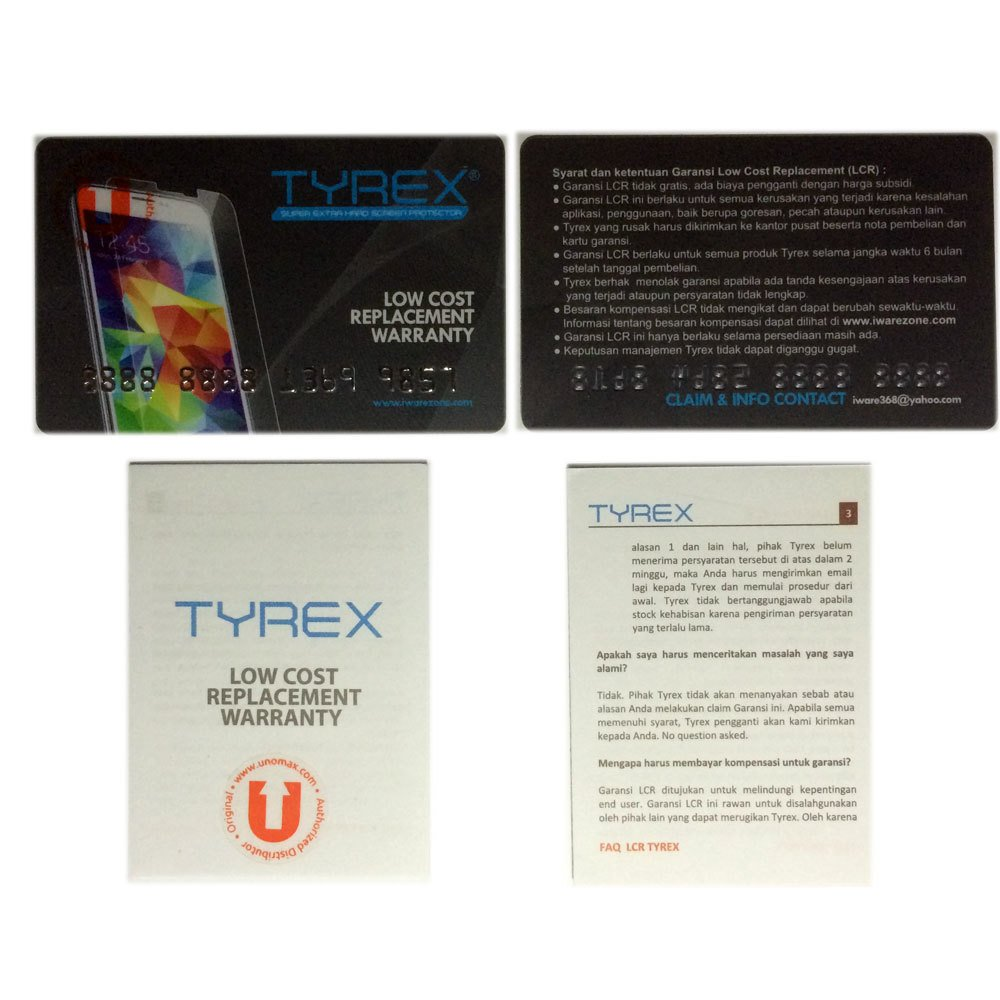 Tyrex Slim 0.2mm Samsung Galaxy S5 Tempered Glass Screen Protector .