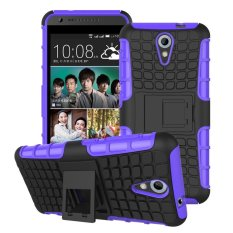 UEKNT Hybrid Dual Layer Tough Heavy Duty Protetion Shockproof Protective Kickstand Cover Case for HTC Desire 620/820 Mini (Purple) - intl