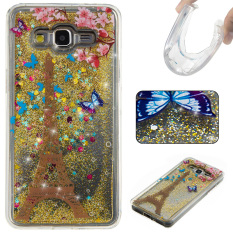 Ueokeird 3D Cool Quicksand Moving Stars Bling Glitter FloatingDynamic Flowing TPU Case Cover For Samsung Galaxy