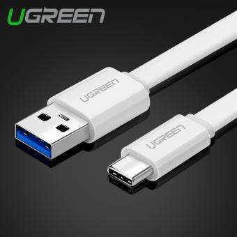 UGREEN 0.25 m USB 3.0 untuk USB Type C Cepat pengisian dan sync data untuk kabel baru MacBook Android telepon (putih) ...