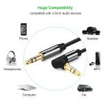 ... UGREEN 3.5mm Kabel Audio 90 Derajat Sudut Siku untuk Review Mobil headphone MP3 Ponsel-