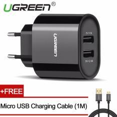 Rp 125.000. UGREEN 5 V 3.4 AMP Kabel Universal USB Charger Dinding dengan Gratis 1 M Kabel Pengisian USB Mikro-Hitam, Steker Uni EropaIDR125000