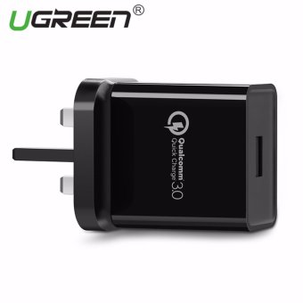 UGREEN Qualcomm Certified Quick Charge 3.0 18W USB Wall Charger Phone Fast Charger - Black,UK Plug - intl