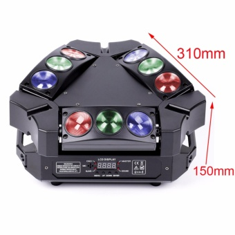 U'King Lighting Spider Moving Head Light Stage Effect Light9*3W RGB LEDs DMX512 and Sound Active Light Triangle Lampfor DJ Bar Party Nightclub Discotheque - intl - 4