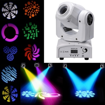U`King Moving Head Stage Light Led Beam Projection Party Disco DJClub Bar Live Stage Laser Lights 30w 8 Patterns 9/11 channelsSound-activated Stage Effect Lighting - intl
