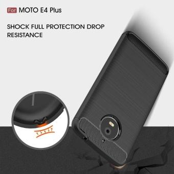 Ultra Light Carbon Fiber Armor ShockProof Brushed Silicone Grip Case for Motorola Moto .