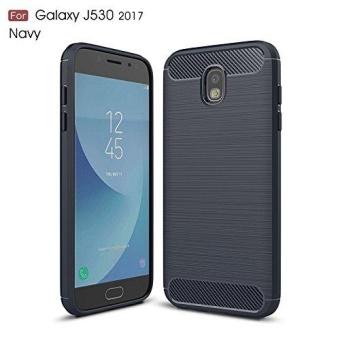 Ultra Light Carbon Fiber Armor ShockProof Brushed Silicone Grip Case for Samsung Galaxy J5 Pro 2017 J530 - intl
