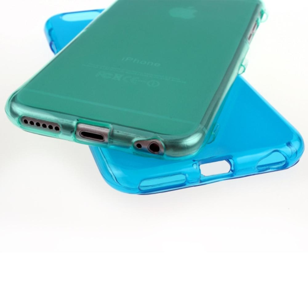 Ultra Thin Clear Flip TPU Full Case Cover For iPhone 6 Plus/6S Plus5.