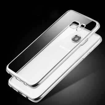 Ultrathin TPU Shining Chrome Case For Samsung Galaxy A9 Pro - DarkGrey