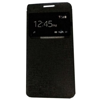 Ume Flipcover Asus Zenfone 2 Laser ZE601KL Ukuran 6.0 Inch /Zenfone Laser Flip Shell / Leather Case / Sarung HP / View - Hitam
