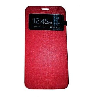 Ume Flipcover Asus Zenfone 2 Laser ZE601KL Ukuran 6.0 Inch /Zenfone Laser Flip Shell / Leather Case / Sarung HP / View - Merah