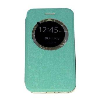 Ume FlipCover ASUS ZenFone Go Ukuran 4.5 Inch ZC451TG Flip Shell /Leather Case / Sarung HP / View - Hijau Tosca