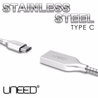 Dinamika UNEED Kabel Data USB Type C Stainless Steel Quick Charge Android