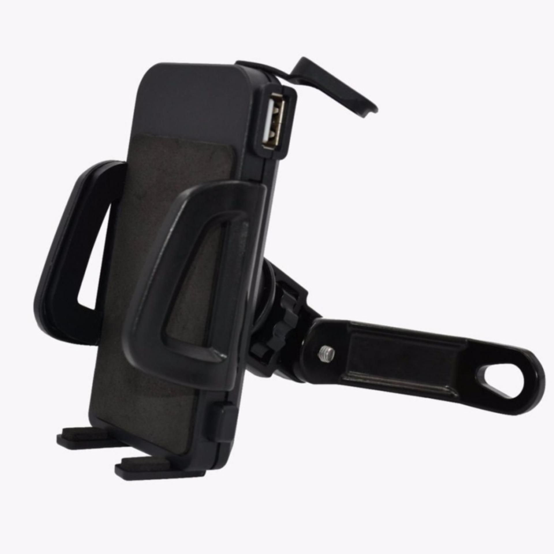 Diskon Penjualan Unique Holder Motor With Usb Charger Smartphone For Fast Aki Motorcycle Spion Untuk