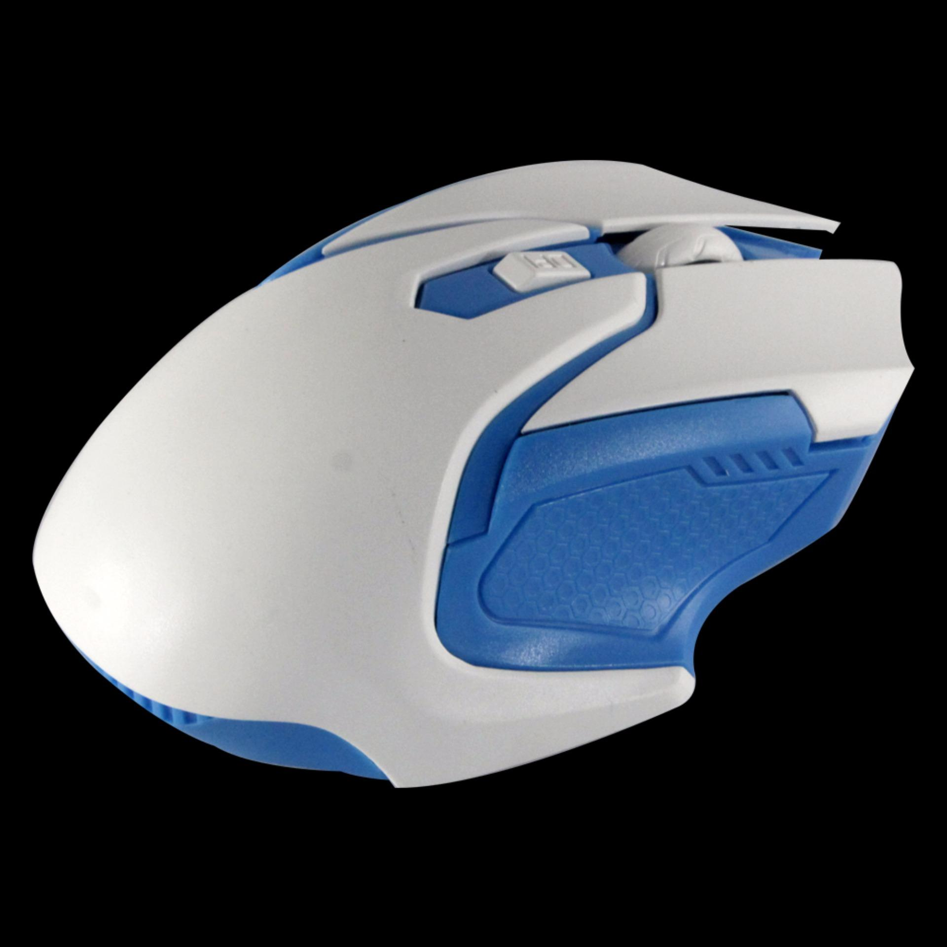 ... uNiQue Mouse Wireless M101 Mouse Nirkabel Untuk Komputer dan Laptop White Blue ...