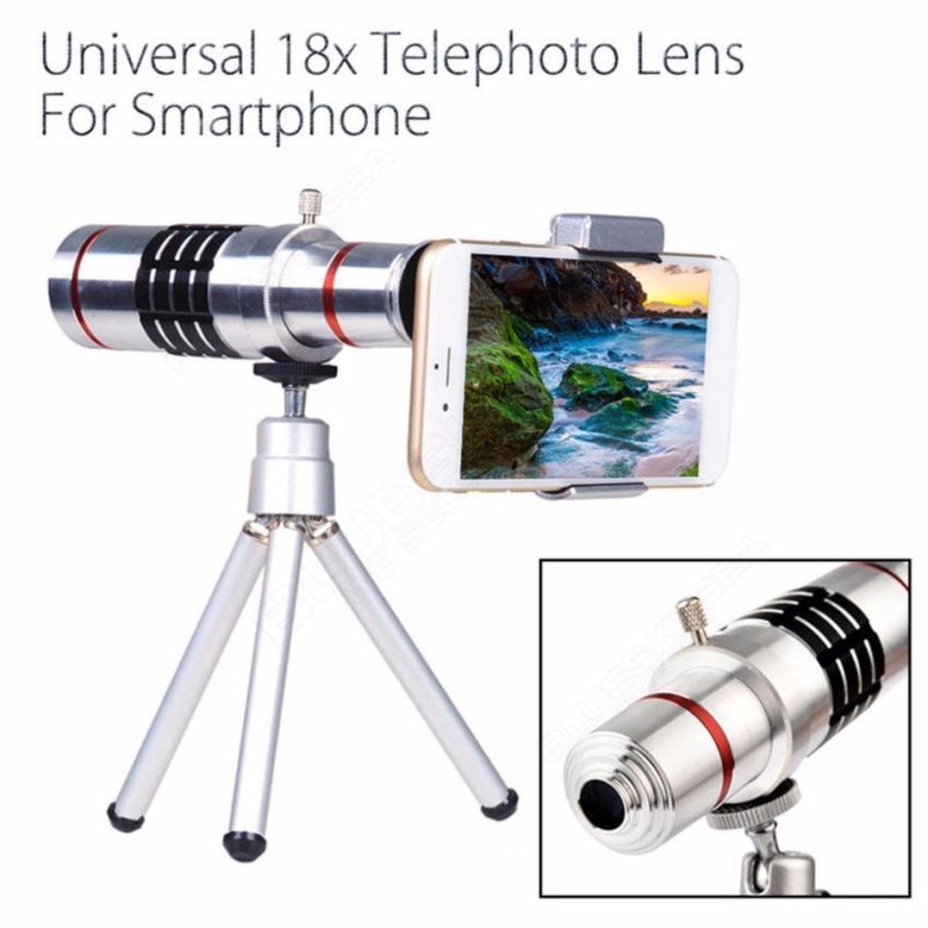 Universal 18x Magnifier Telescope Zoom Lensa Telephoto untuk Smartphone dengan Tripod-Intl