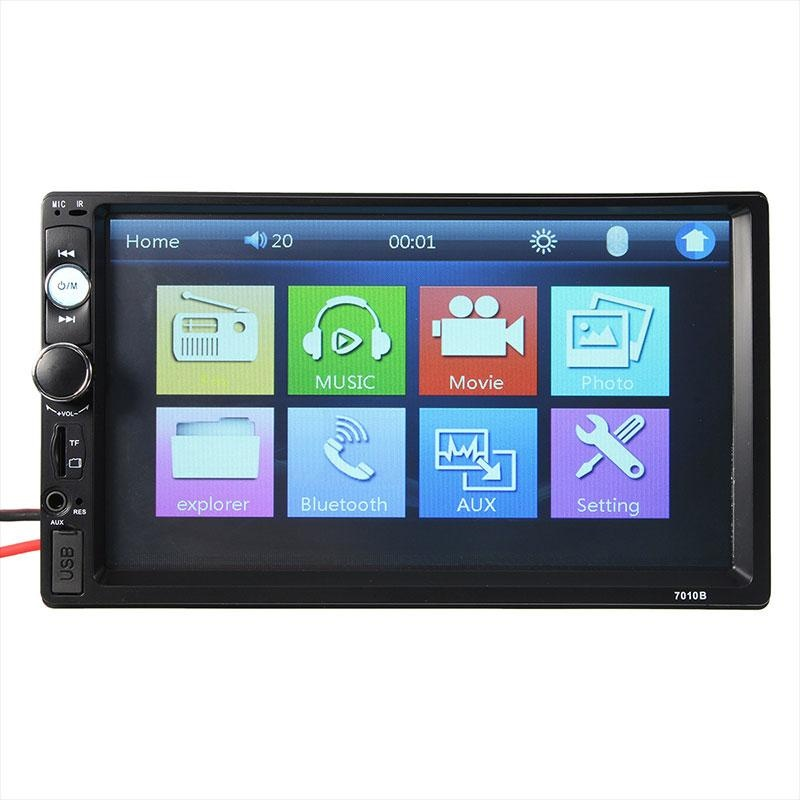 """Universal 7\""\"" Touch Screen 2 DIN In-Dash Bluetooth Car Audio USB TF FM MP5 Player - intl\"""