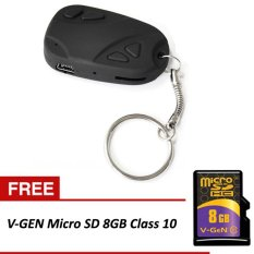 Universal Carkey Hidden Cam Remote Mobil + Gratis Micro SD V-GEN 8GB Class 10