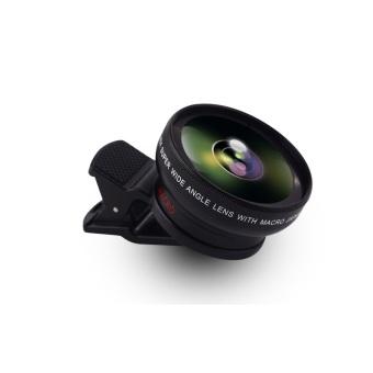 Universal HD profesional kamera lensa Kit dengan definisi tinggi0.45 x Super sudut lebar lensa + 12.5 x lensa makro, klip-padalensa untuk ponsel iPhone 6s/6 Plus/5s, Samsung Galaxy dankebanyakan smartphone - Internasional