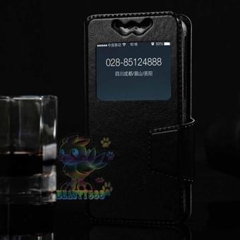 "Hot Deals ""Universal Leather Case Windows For All Smartphone Ukuran 5,0 Inch -"