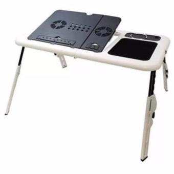 Universal Meja Laptop Lipat Portable Multifungsi - T04 E-Table Desk With Fan Cooler -