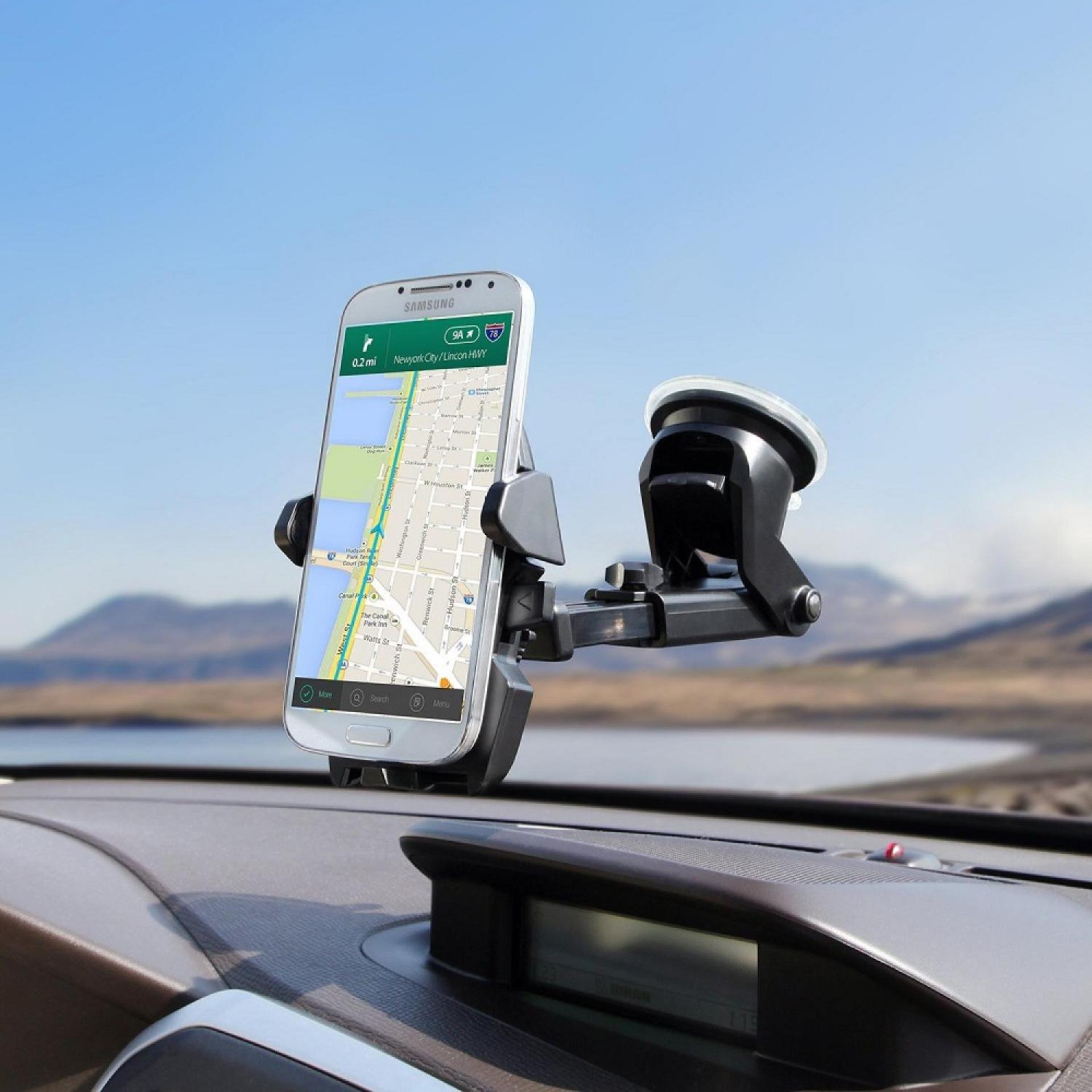 Universal Mobile Phone Car Holder SH3 - Hitam .