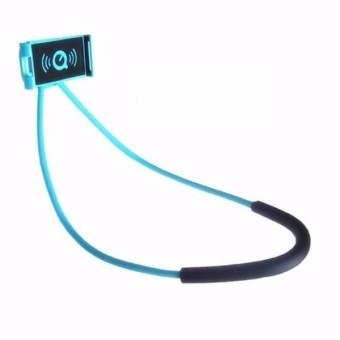 Universal Leher Hanging Holder Phone Stand Lazy Holder Bracket Handphone untuk Di Bawah 5.5 Inches Smartphone