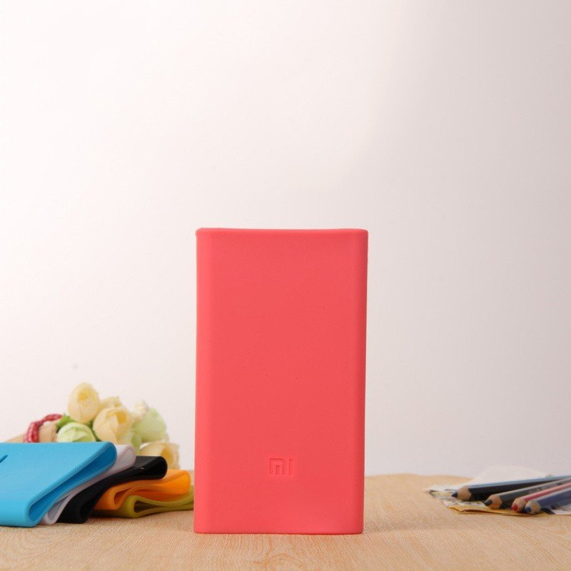 Universal Silicon Case Cover for Xiaomi Power Bank 5000 mAh - Red